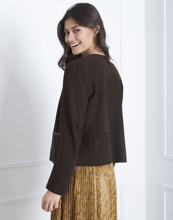 Thea brown suede jacket (4) - Maison 123