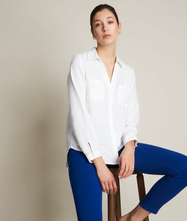 Evolie white linen shirt PhotoZ | 1-2-3