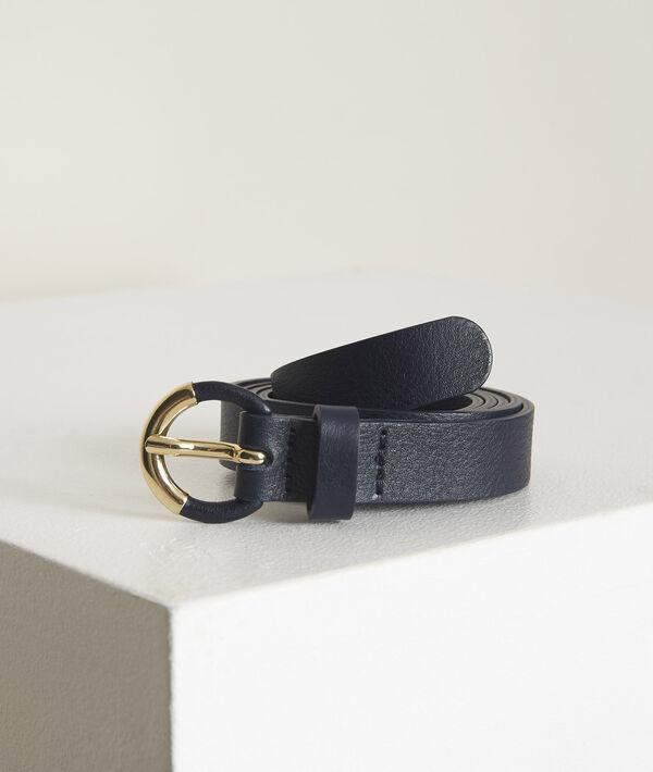 Pilar navy leather belt PhotoZ | 1-2-3