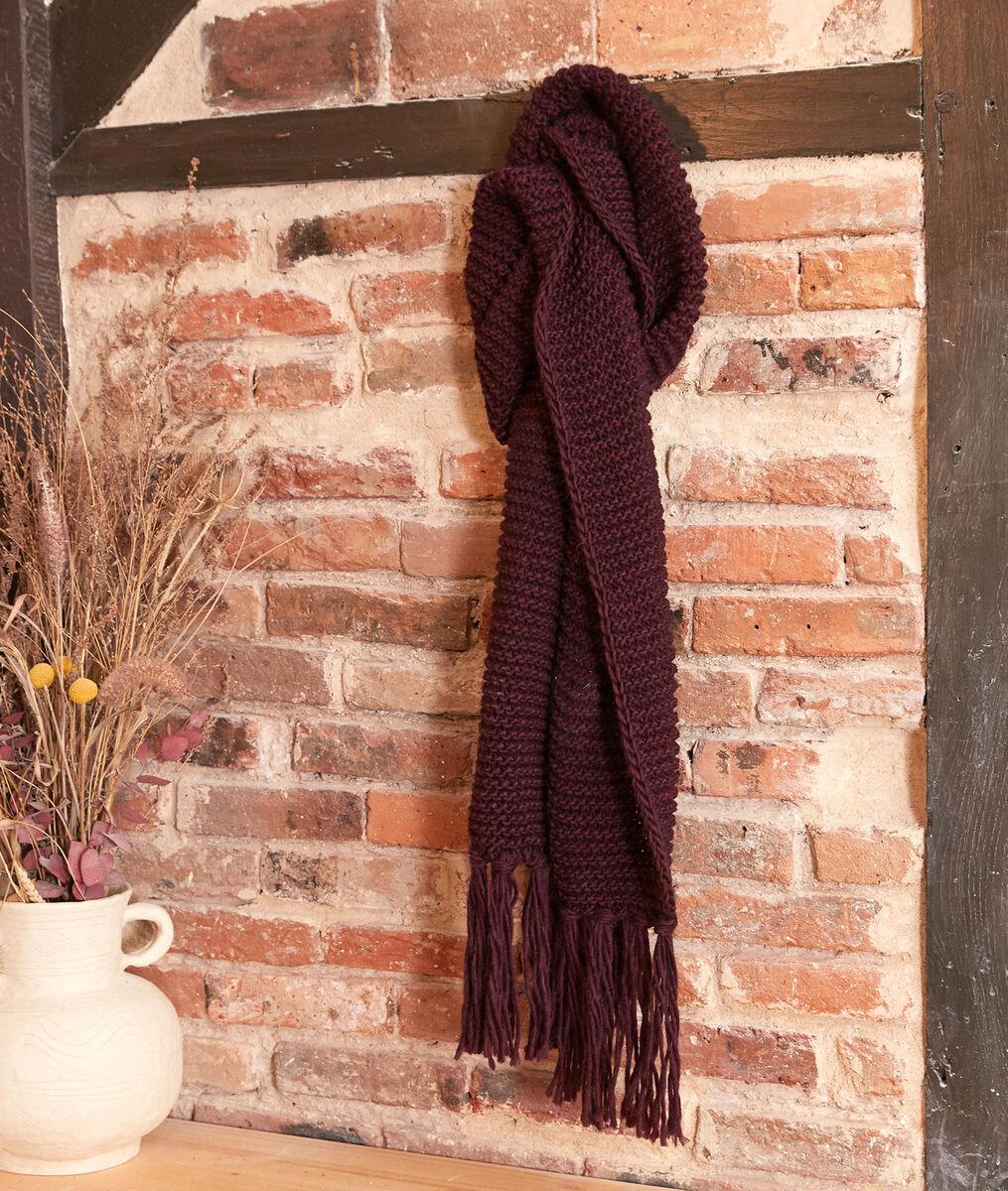 Haby fuchsia fringed scarf PhotoZ | 1-2-3