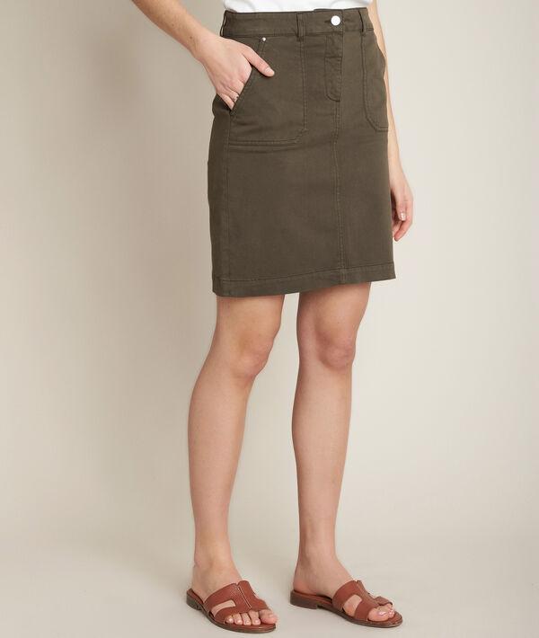 Balade khaki cotton skirt PhotoZ | 1-2-3