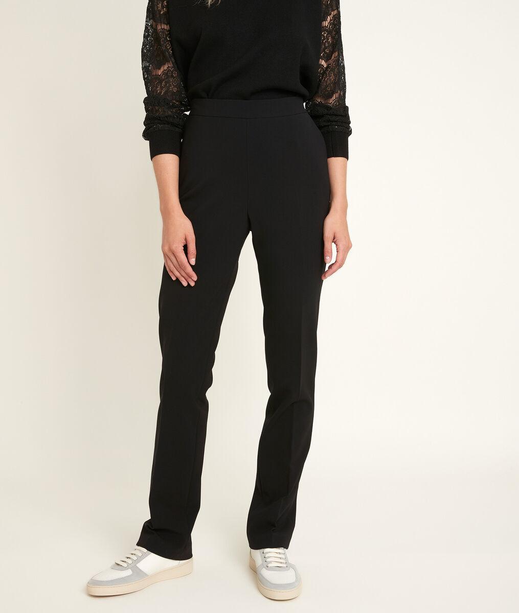 Melie straight leg microfibre trousers PhotoZ | 1-2-3