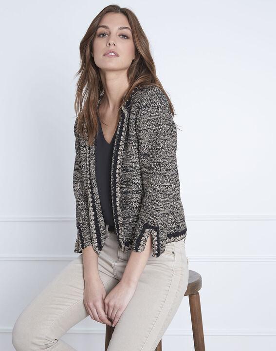 Black decorative Amour knitted waistcoat PhotoZ | 1-2-3