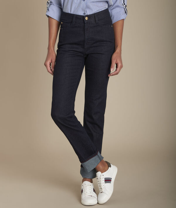 Sonia, the Original 123 straight-leg rinse jeans PhotoZ | 1-2-3