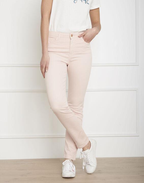 Vendome pale fuchsia slim-fit sateen jeans PhotoZ | 1-2-3