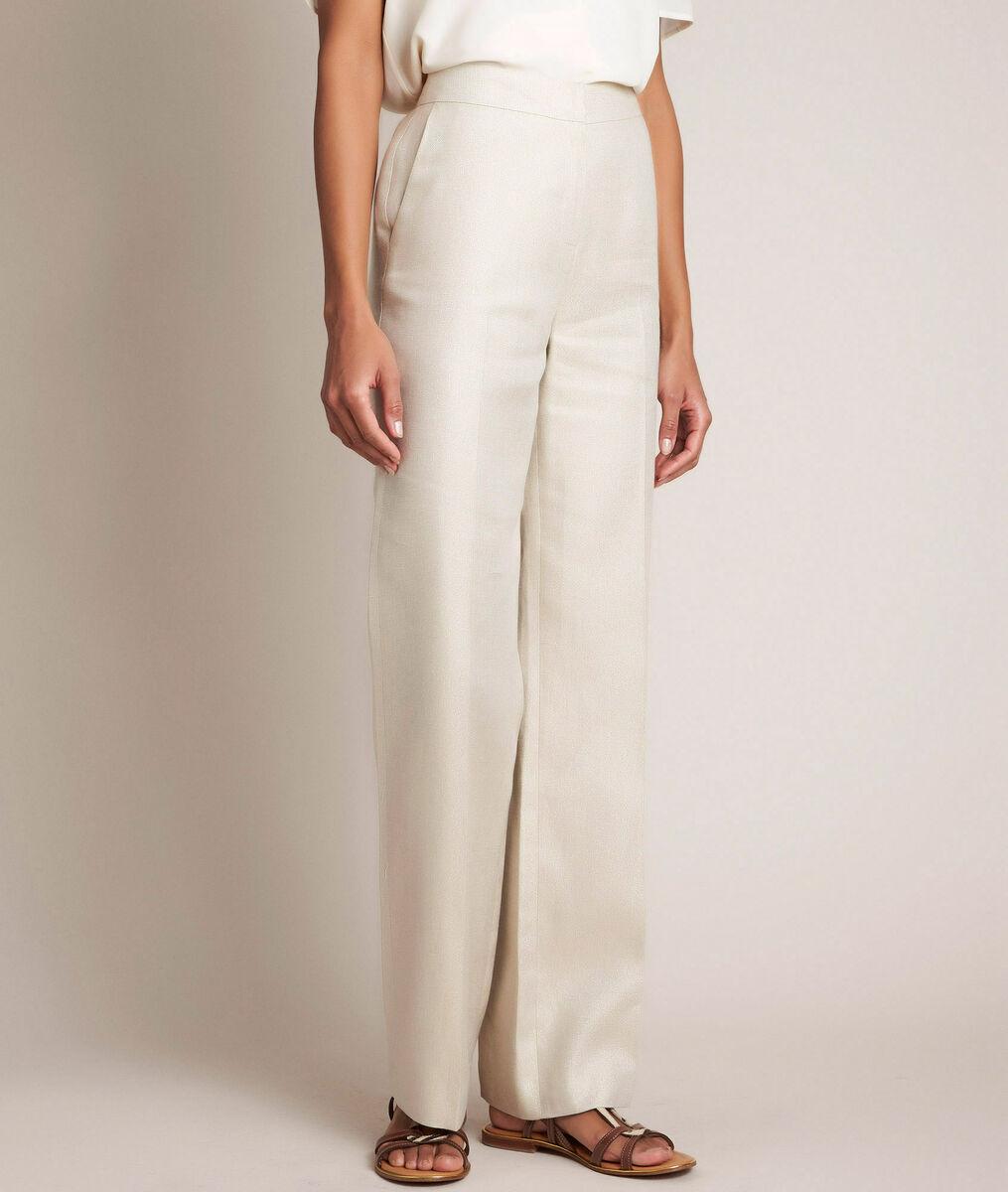Iana shiny linen trousers PhotoZ | 1-2-3