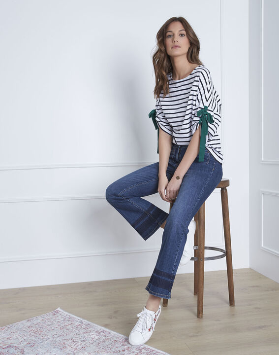 Portland white striped T-shirt with ties (1) - Maison 123