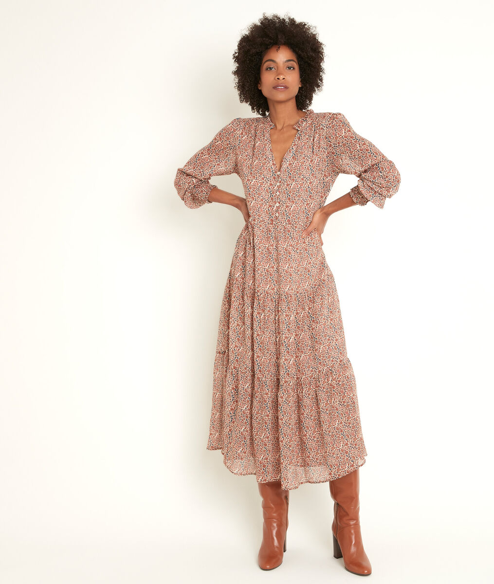 Nada printed maxi dress PhotoZ   1-2-3