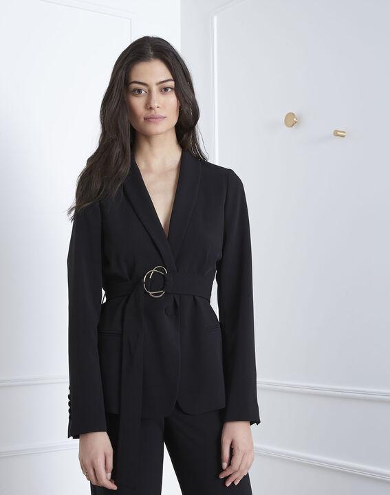 Fanny black jacket with golden belt PhotoZ | 1-2-3