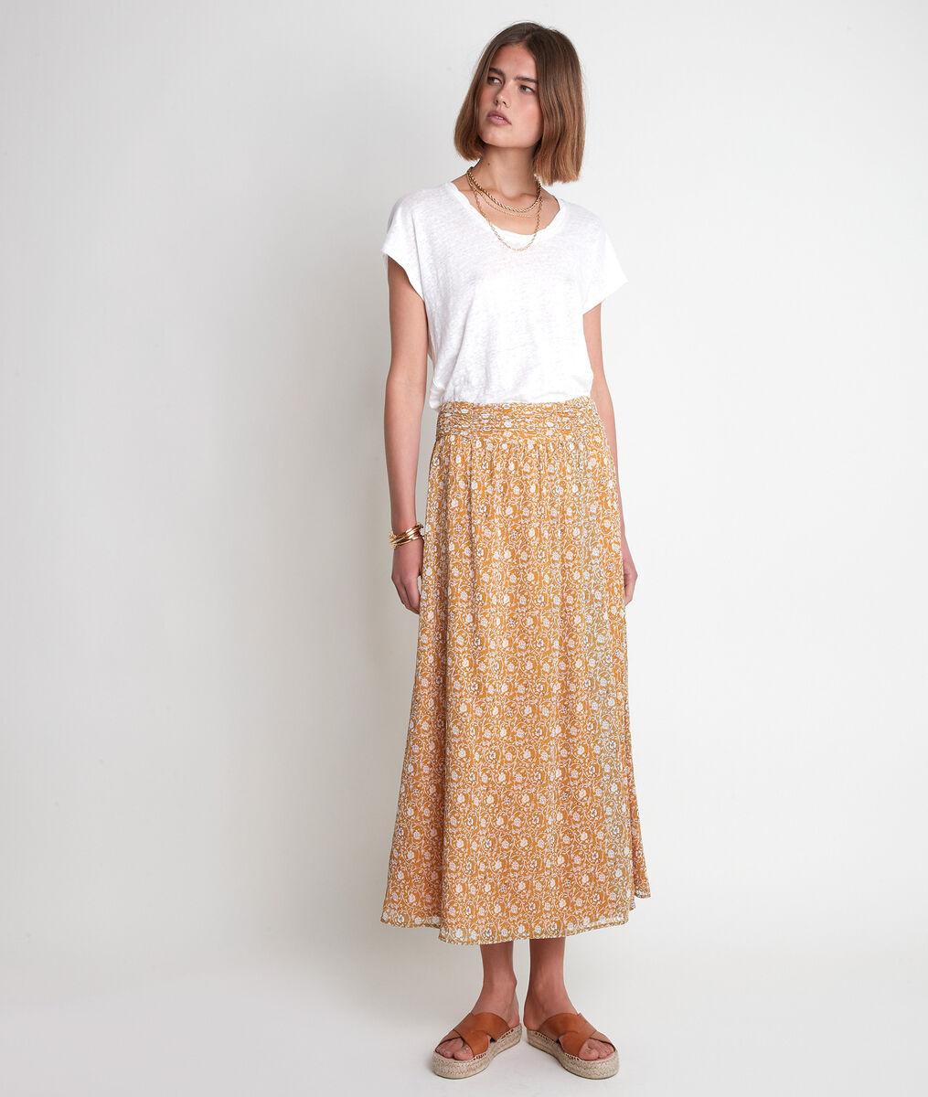 Etel bronze printed skirt  PhotoZ | 1-2-3