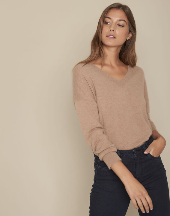 Figuier Havana brown wool and cashmere blend jumper PhotoZ | 1-2-3