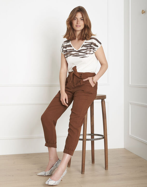 Geode fluid brown belted trousers PhotoZ | 1-2-3
