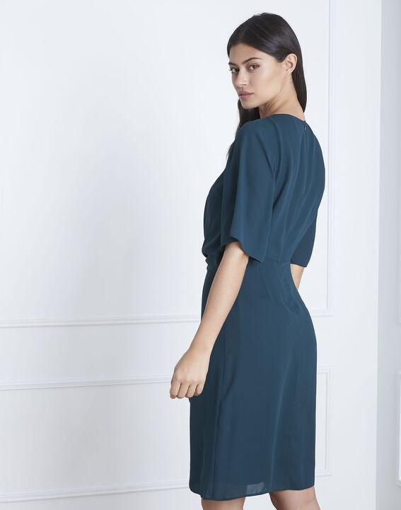 Hermine dark green draped dress (4) - Maison 123