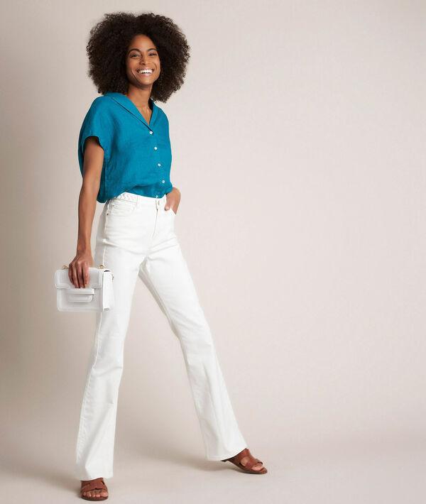 Saphir, the Vintage flare ecru wide-leg flared jeans PhotoZ | 1-2-3