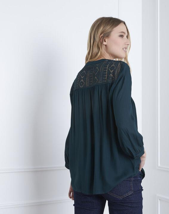 Veracine dark green lace blouse (4) - Maison 123