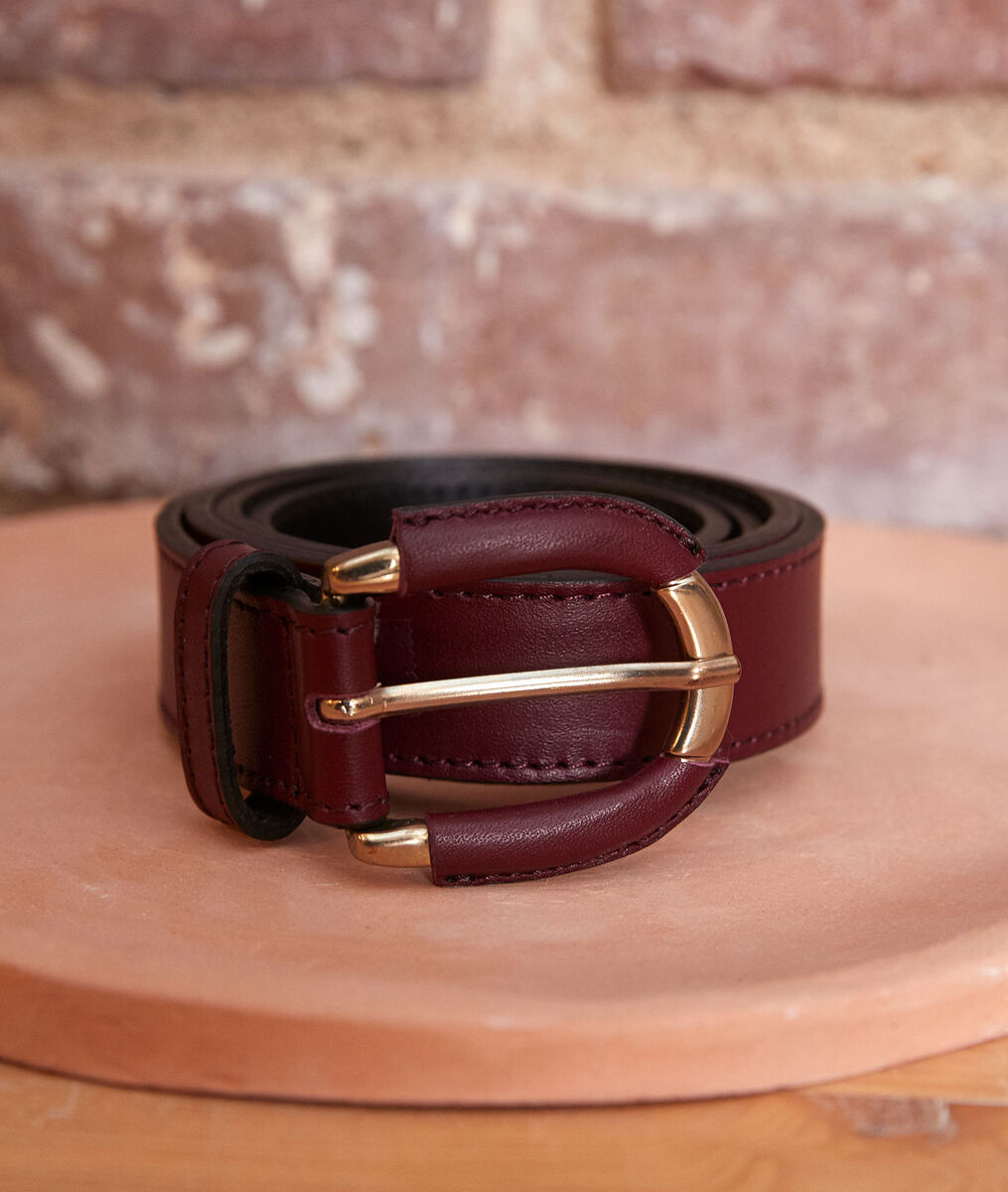 Eleonore bordeaux leather belt PhotoZ | 1-2-3