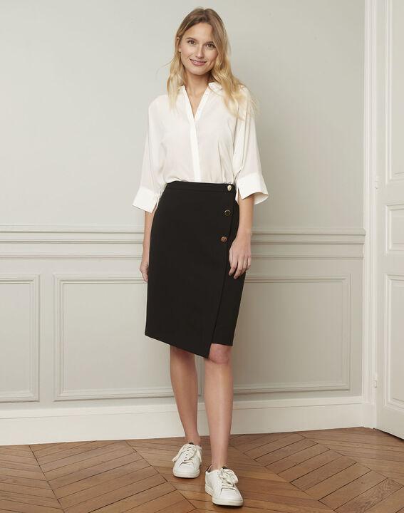 Vania ecru flared silk blouse PhotoZ | 1-2-3