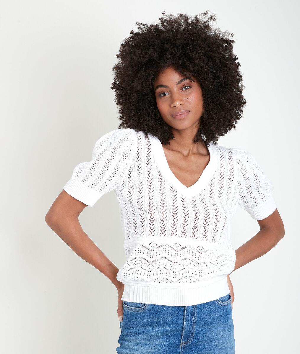 Alto organic cotton openwork pullover PhotoZ | 1-2-3