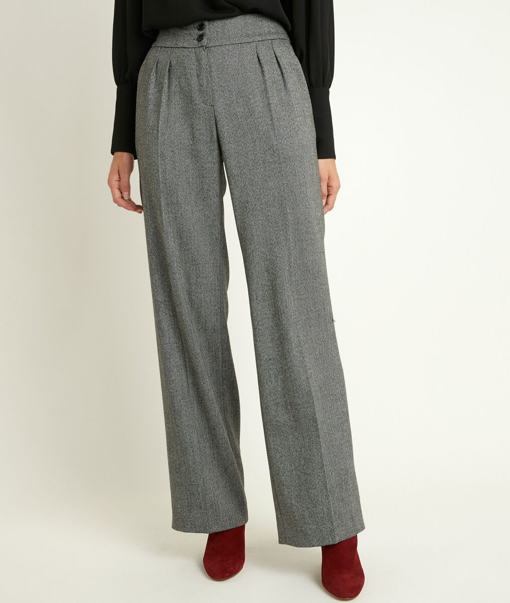 Malo wide-legged herringbone trousers PhotoZ | 1-2-3