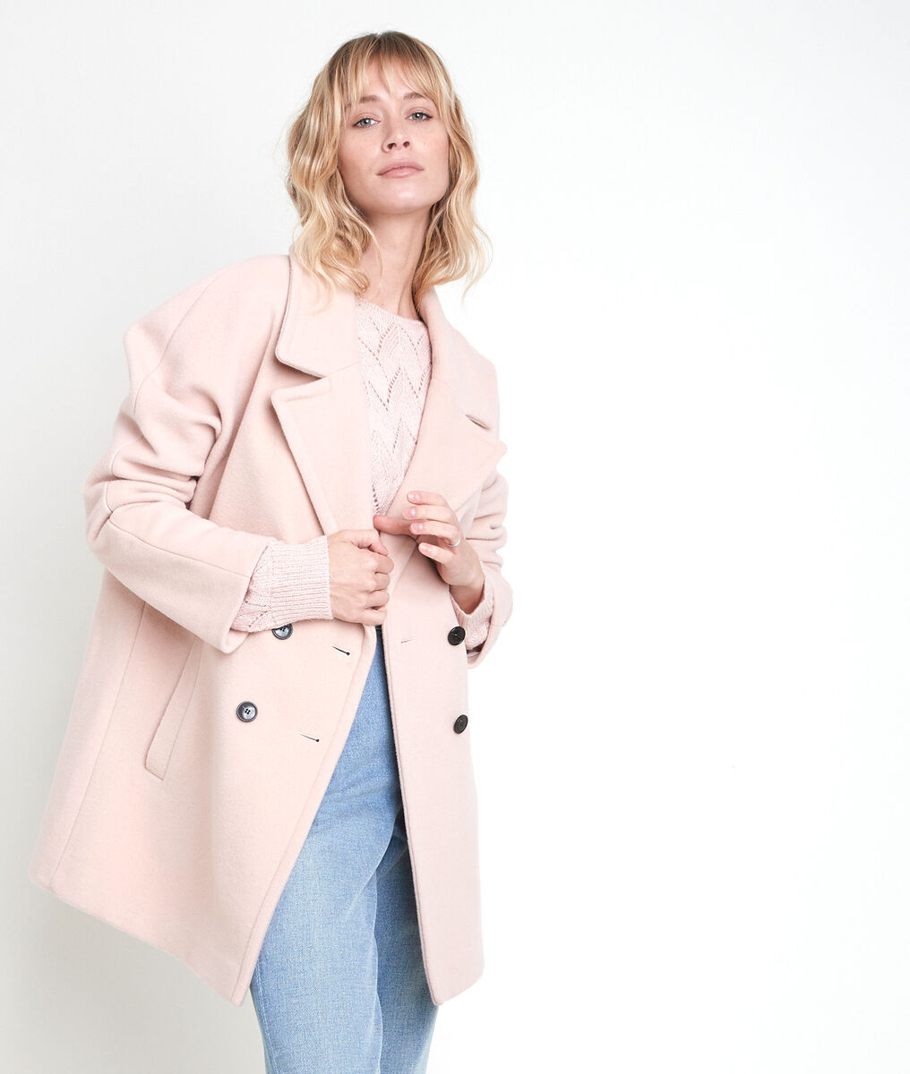 JOY powder-coloured wool blend coat PhotoZ   1-2-3