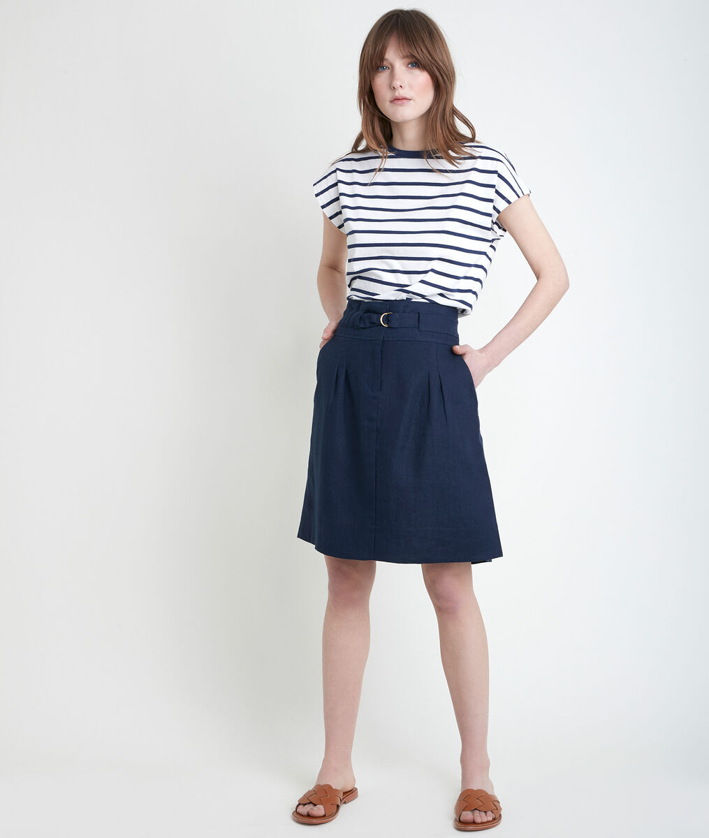 ELISA blue certified linen skirt PhotoZ | 1-2-3