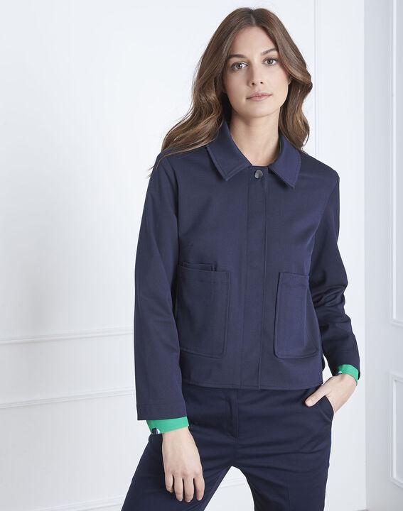Felicia navy short jacket PhotoZ | 1-2-3