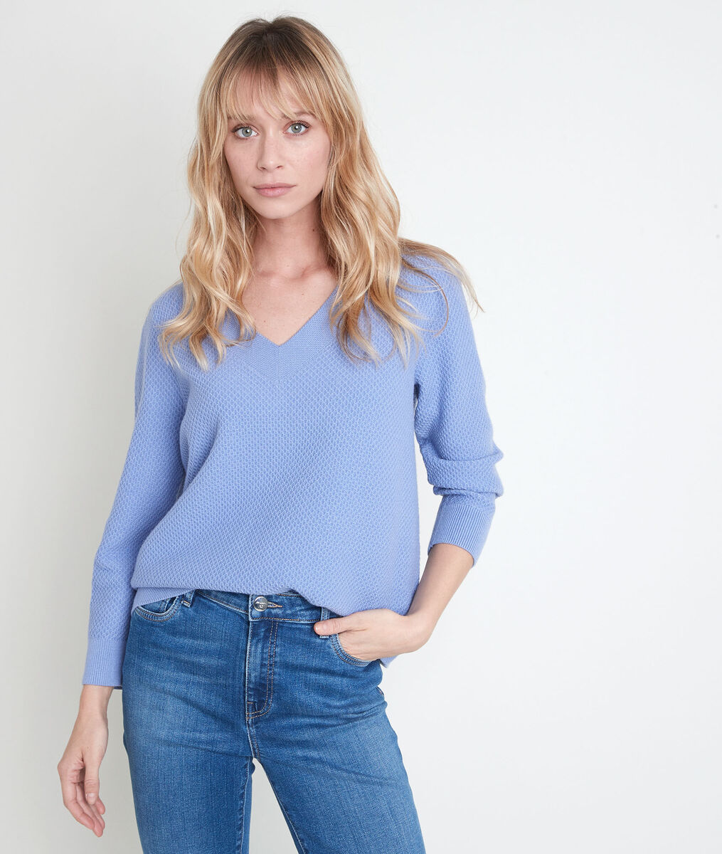 Amore lavender decorative knit jumper PhotoZ | 1-2-3