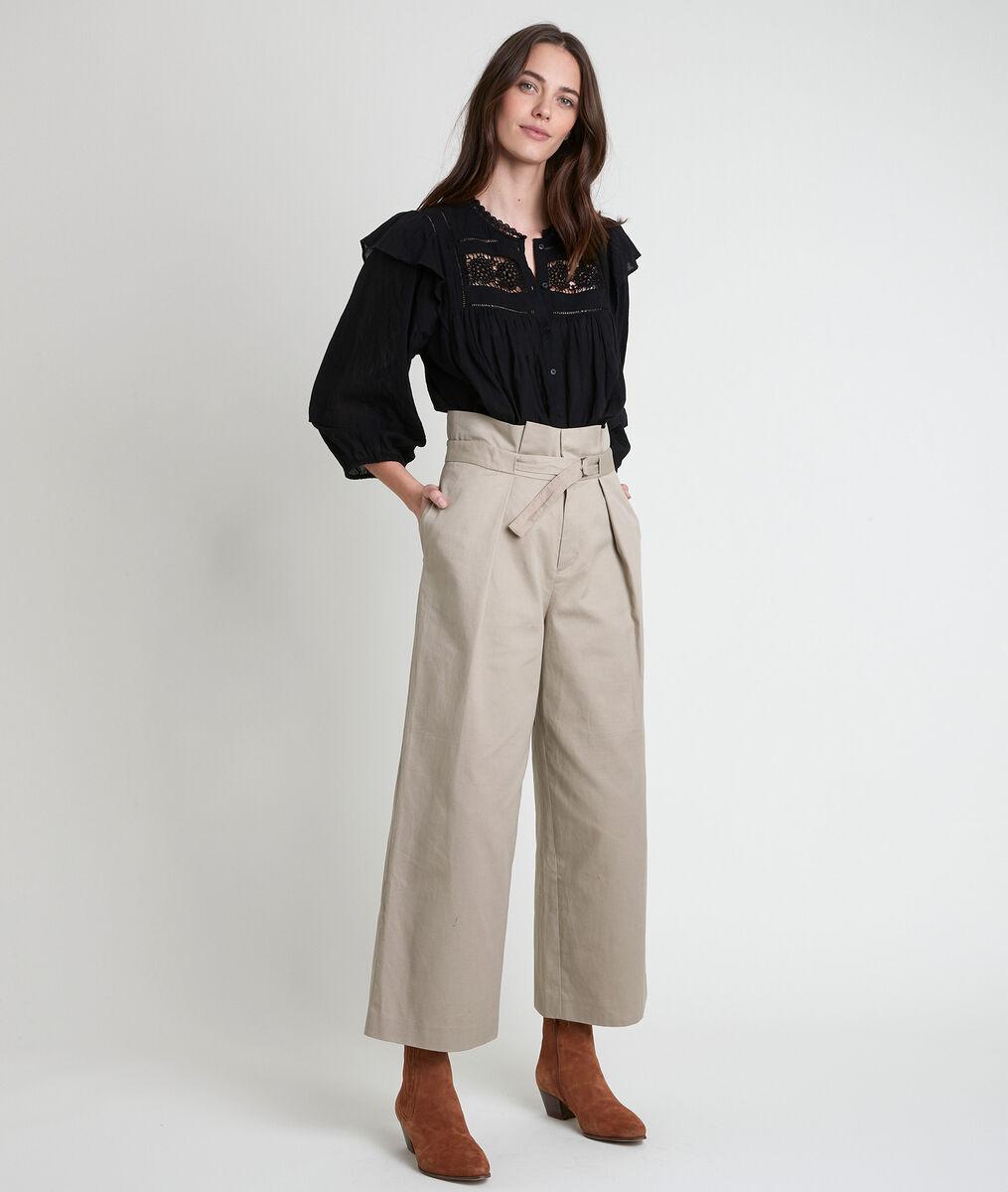Flore wide-legged beige trousers PhotoZ | 1-2-3