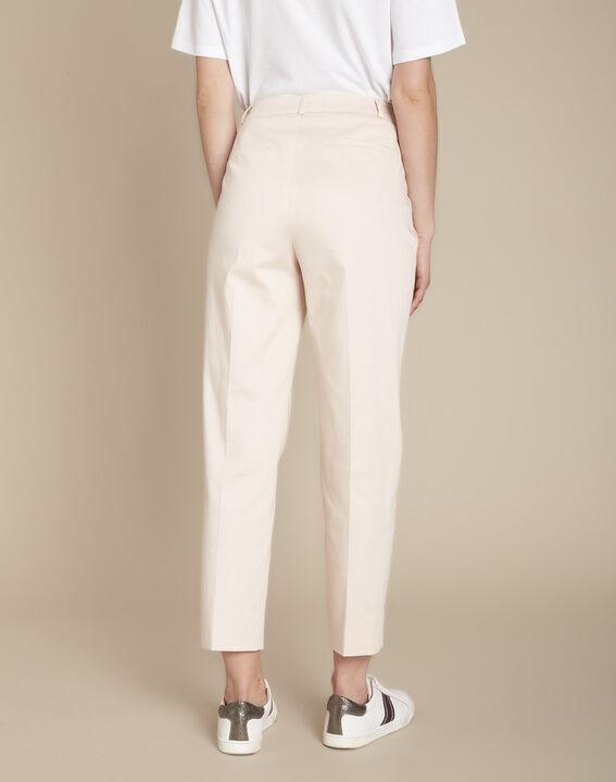 Rubis powder-coloured cigarette trousers (4) - Maison 123