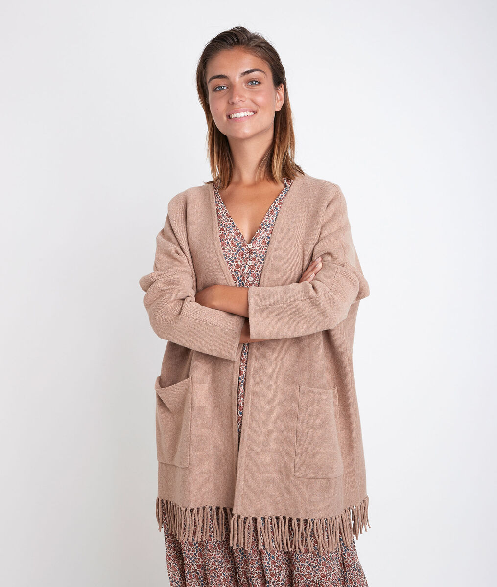 Roxie knitted jacket with tassels PhotoZ | 1-2-3