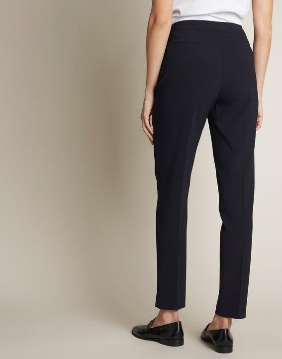 Lara navy microfibre trousers (4) - Maison 123