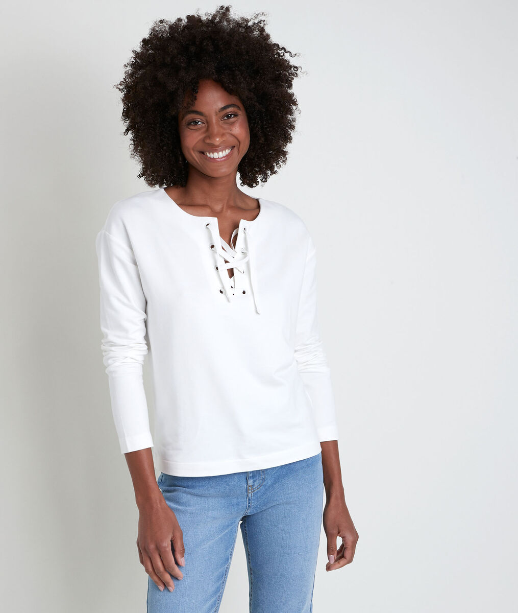 IVOIRE white top with lace collar PhotoZ | 1-2-3