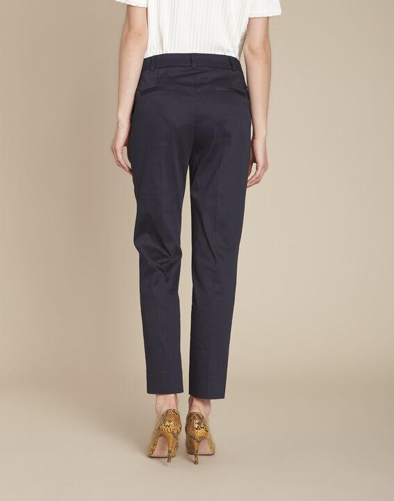 Rubis navy cigarette-cut trousers (4) - Maison 123