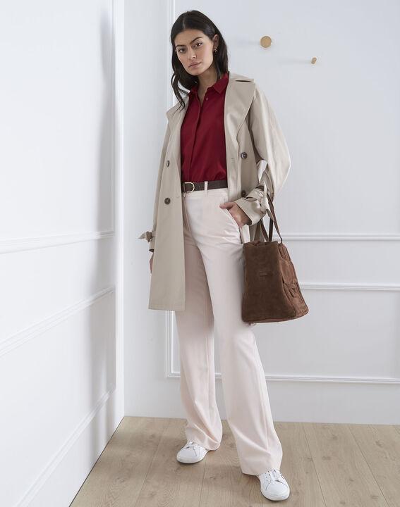 Valeria red straight-cut top (2) - Maison 123