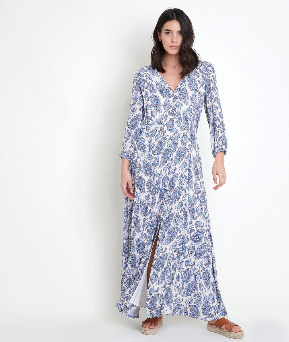 LOUVINA forget-me-not print maxi dress PhotoZ | 1-2-3