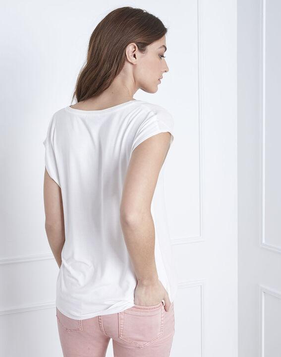 Vanissa Henly collar bimaterial beige blouse (4) - Maison 123