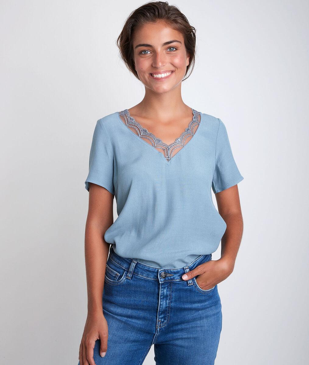 Divine bis blue dual-fabric top PhotoZ   1-2-3