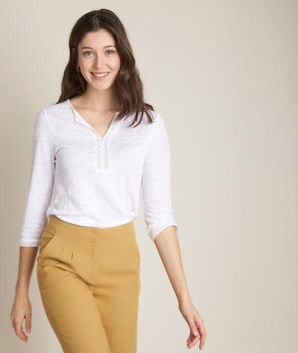 Rizière white linen T-shirt PhotoZ | 1-2-3