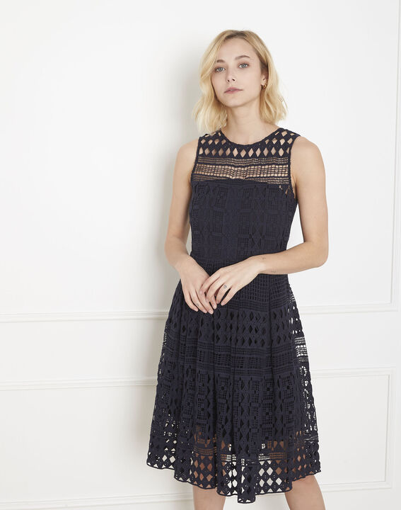 Honore navy lace dress PhotoZ   1-2-3