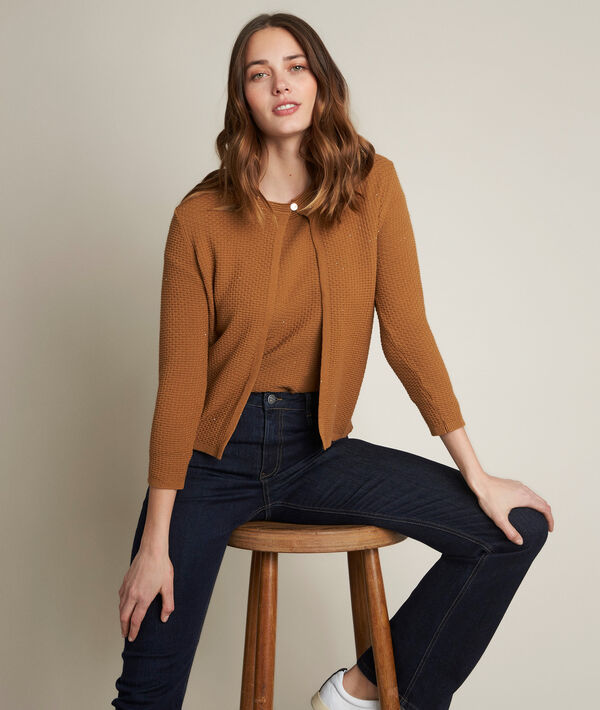 Davina tobacco pullover with sequins PhotoZ   1-2-3