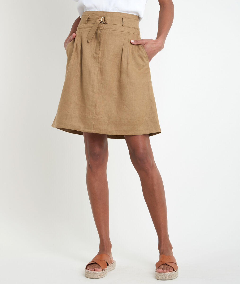 Elisa bronze certified linen skirt PhotoZ | 1-2-3