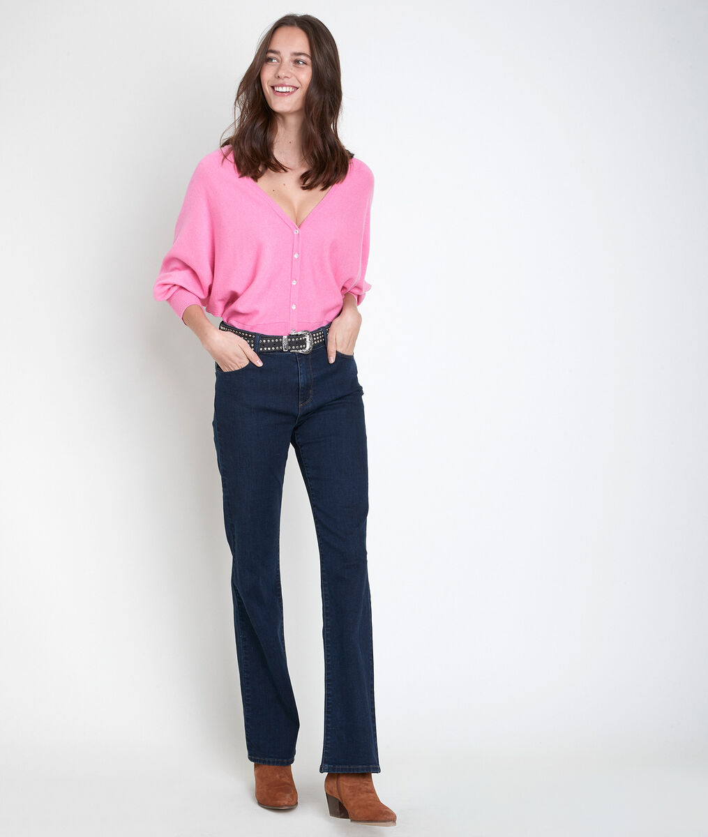 Aldo pink wool-blend cardigan PhotoZ   1-2-3
