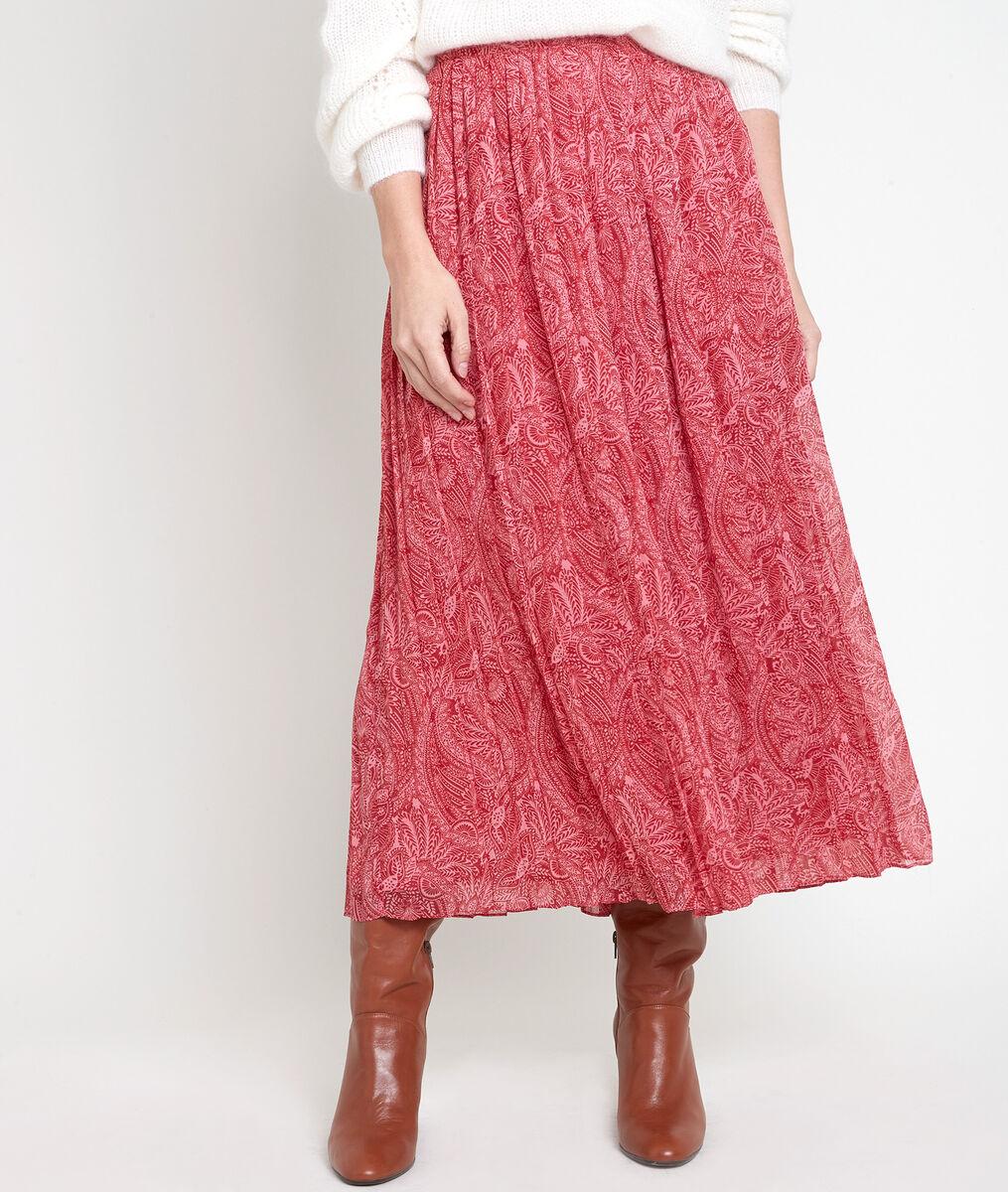 ERESSE printed pleated maxi skirt PhotoZ   1-2-3