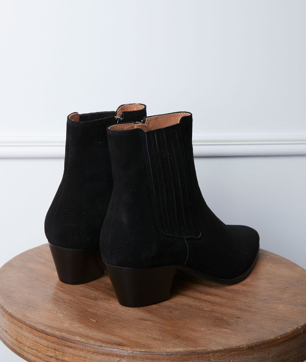 Gaby black high-heeled ankle boots PhotoZ | 1-2-3