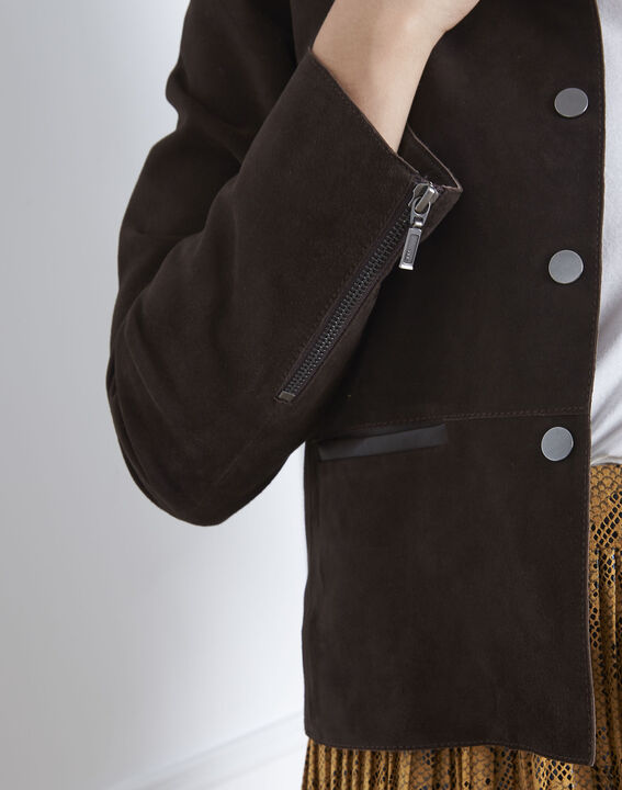 Thea brown suede jacket (3) - Maison 123