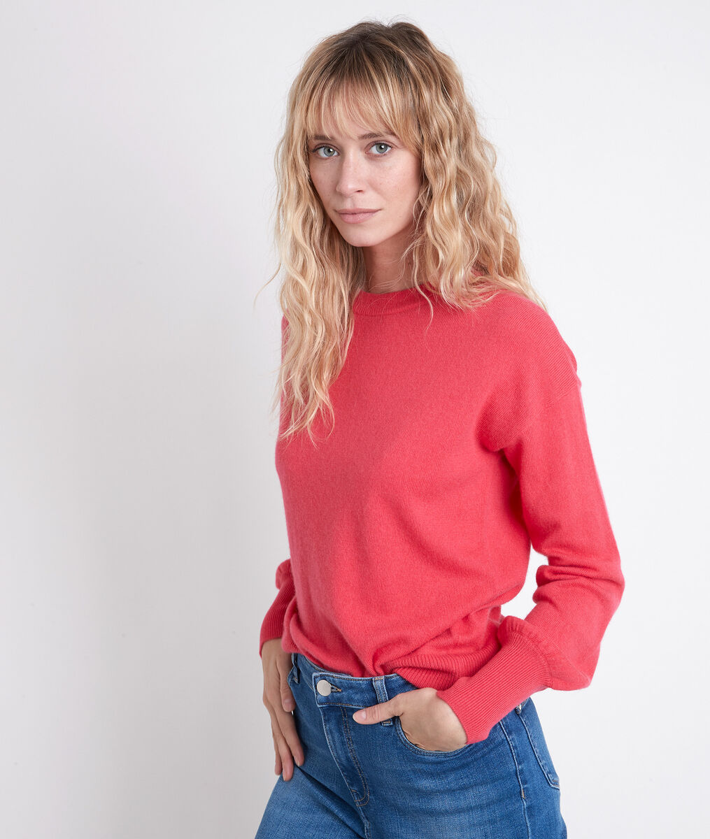ALANIS pink wool and cashmere jumper PhotoZ | 1-2-3