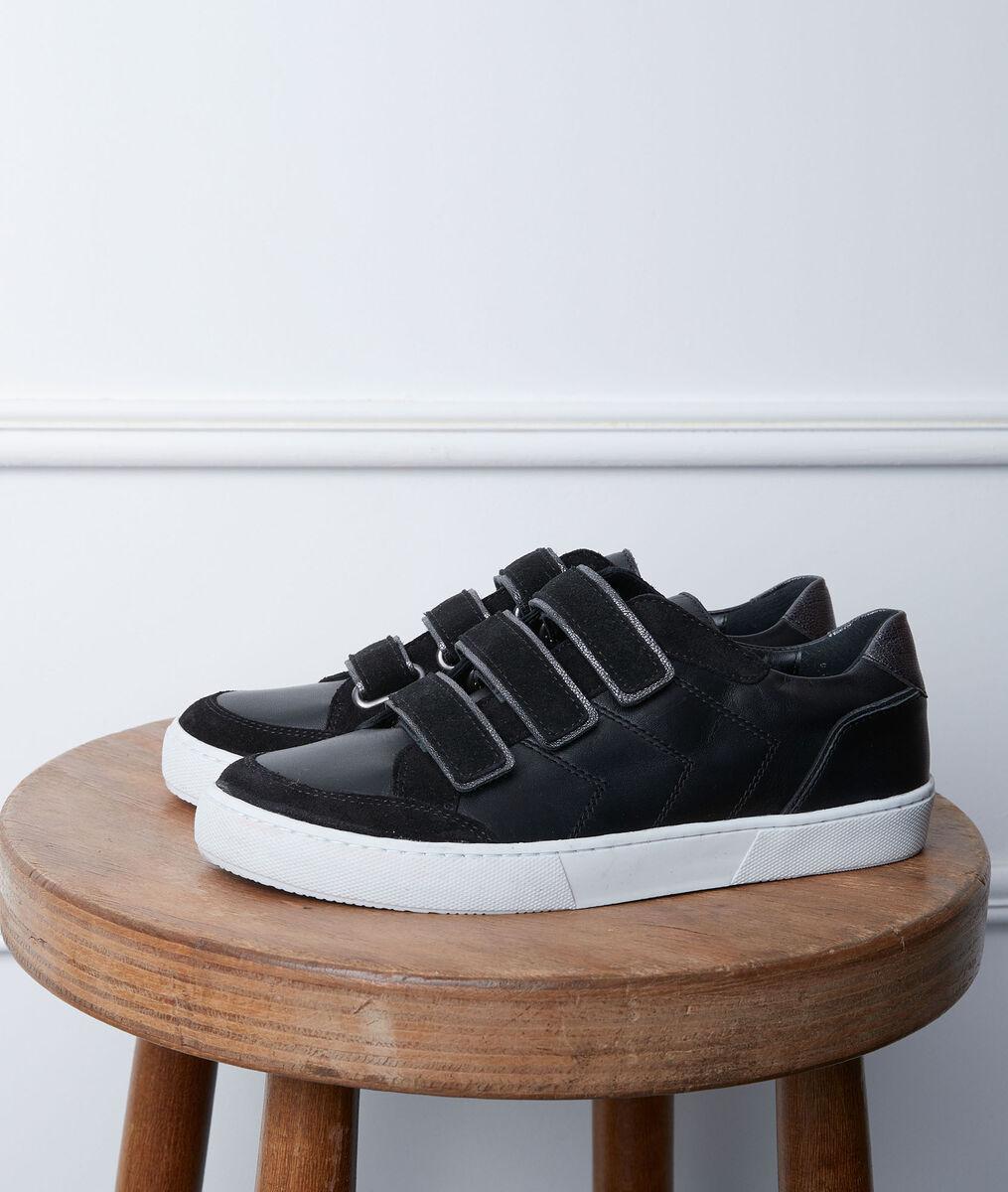 Gala black velcro trainers PhotoZ | 1-2-3