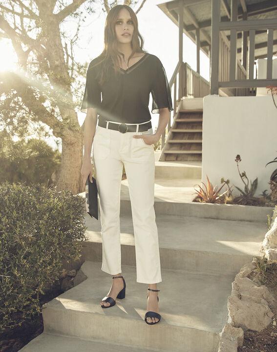 Coconut off-white 7/8 length boyfriend jeans (1) - Maison 123