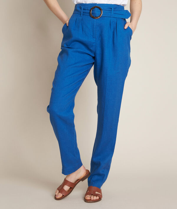 Ilea belted linen trousers PhotoZ | 1-2-3