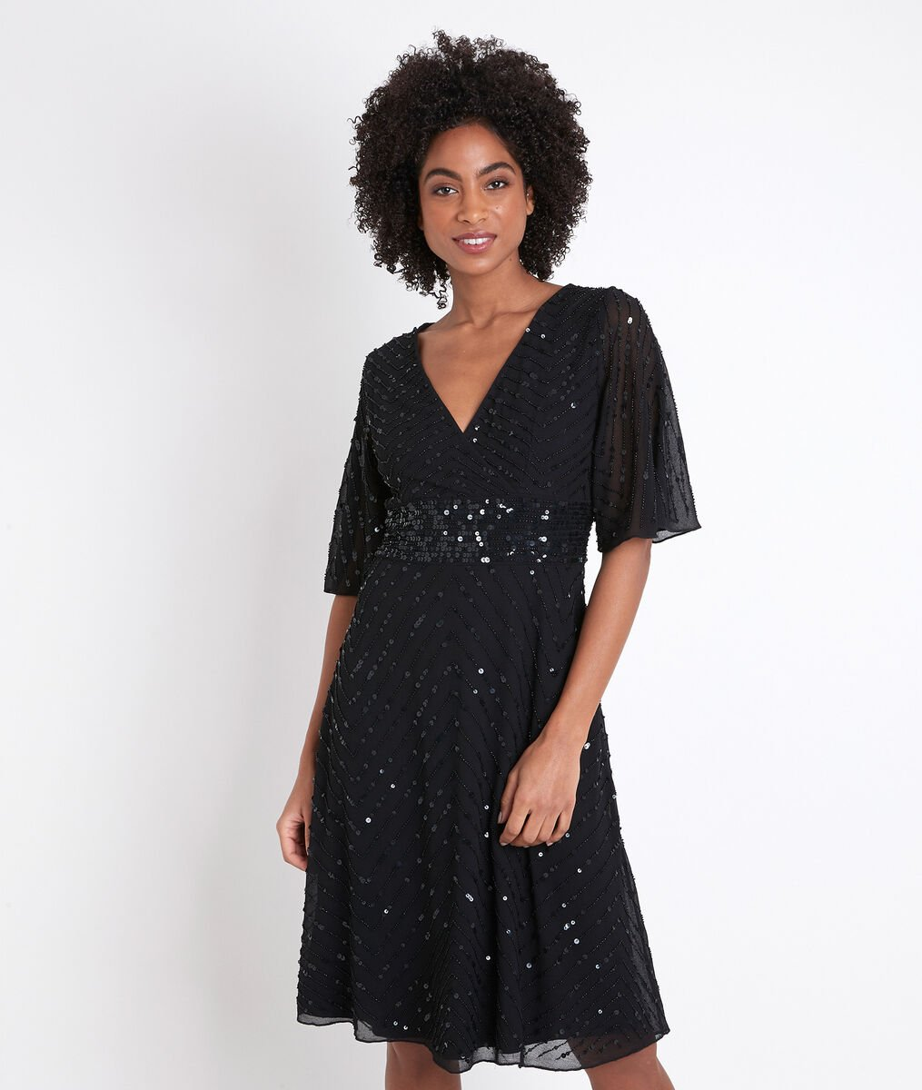 Céleste fitted sequinned dress PhotoZ | 1-2-3